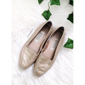 🌿 Vintage Metallic Champagne Loafer Flats 🌿